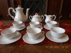 Zsolnay Barokk, fehér kávés készlet