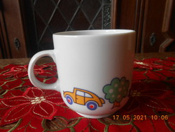 Alföldi porcelán autós gyerek bögre