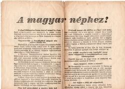 1945 Szociáldemokrata röplap, kiáltvány
