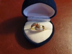 Meseszép 14K arany gyűrű cirkóniával 2.