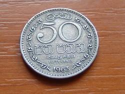 SRI LANKA (CEYLON) 50 CENT 1963 75% réz, 25% nikkel #