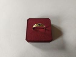 1,-Ft Gyönyörű 14K női pici zafir köves gyűrű szép állapotban