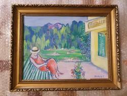 Kvalitásos kisméretű festmény eladó.