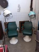 2 db fodrászüzlet berendezés, szék