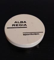 Retro  ALBA REGIA Sportkrém  fém doboza, mely a felírat szerint minden bőrre és alkalomra remek
