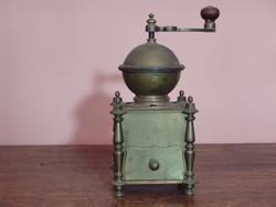 Hatalmas antik réz kávédaráló