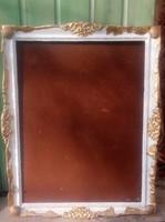 Blondel antik képkeretek felújítva. A hiányok valódi kagylóval pótolva. 35x45 cm, 55x45 cm