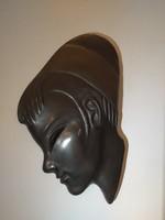 Izsépy Margit egzotikus női kerámia falimaszk