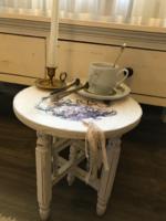 Vintage asztalka, ülőke , posztamens