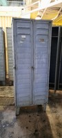 Old two-door metal lockers