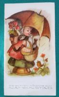 Külföldi,kisgyerekes üdvözlőlap,képeslap,Hummel jellegű,használt