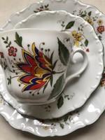 Bavaria német porcelán reggeliző szett 3 részes (csésze, alj, szendvics tányér)