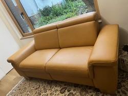 Valódi bőr, motoros relax kanapé