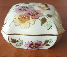 Zsolnay porcelán pillangós bonbonier 9421/1/026