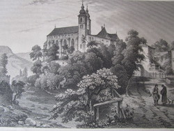 EGER SZENT BENEDEKI TEMPLOM JELZETT METSZET KÉP CCA. 1850