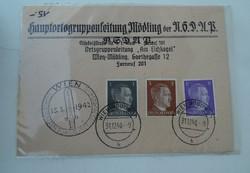 II.Világháborús Német levelezőlap 1942