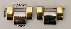 The gilded (1 pair) rolex buckles shown in the picture, the dimensions can be seen on the photon