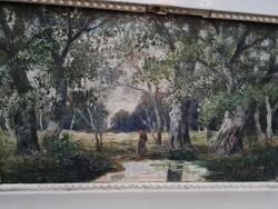 Kislány az erdőben - Olaj vászon festmény