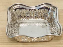 Ezüst áttört kosárka Angol 925-ös ezüstből