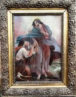 MCP szignóval – Jézus Péter apostollal című festménye – 184.