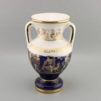 Kézzel festett  porcelán váza 24K ,