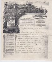 Pilát Pál műhegedű készítő levele 1928-ból