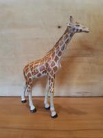 Régi játék zsiráf figura -Lineol- nagyon jó állapotban, kis hibával, fémvázra építve-háború előtti