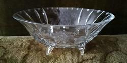 Nagy méretű kristály tál, asztalközép, kínáló