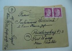 II. világháborús német levél irat dokumentum (AA-0529)
