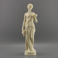 Faragott nő szobor, Vintage nő szobor