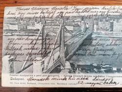 Képeslap Budapest 1907 Erzsébet híd