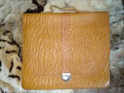 Antik vastag egzotikus bőr táska iskolatáska irodai táska antique leather bag