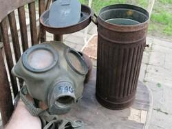 II.vh német gázmaszk,garázslelet,maszk teljesen puha