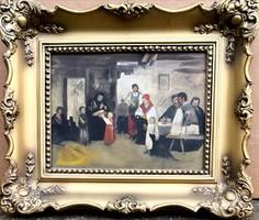 Ismeretlen festőművész – Családi körben című festménye – 193.