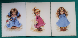 Füzesi Zsuzsa grafikái,postatiszta képeslapok