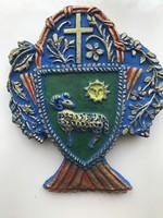 Cserép címer AXMANN 1953 jelzéssel 19*17 cm