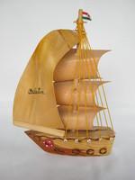 Balatoni emlék fa vitorlás hajó VIHAR