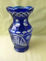 Ajka kristály kék váza (nem kicsi)