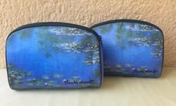 Francia Claude Monet Tavirózsás táska, neszeszer ( nem kicsi) 2 db