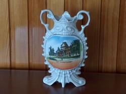 Stilizált hal alkú porcelán váza, Szt. Margitsziget