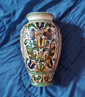 Nagy váza padlóváza Páll Guszti keramikus korondi festett kerámia