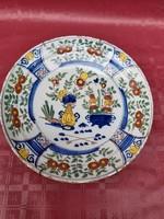 Ónmázas fajansz tányér 1730- 50 as évek