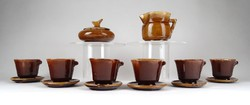 1E704 Régi hat személyes különleges kerámia kávéskészlet