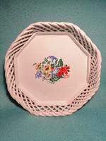 Gyönyörű Bodrogkeresztúri Kerámia ovális virágmotívumos kínáló tál