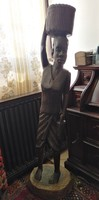 African antique real ebony statue! 126 Cm, about 40 kg!