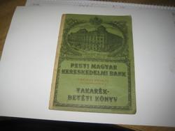 Takarékbetét könyv   , Pesti Magyar kereskedelmi Bank  1940