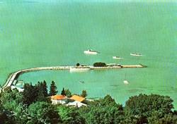 Ba 069 Színes körkép a Balaton vidékról a XX.század közepén . Balaton part