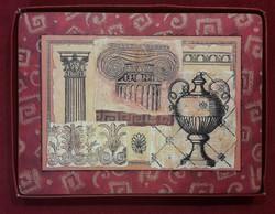 Parafa tányér alátét antik motívumokkal