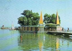 Ba 089 Színes körkép a Balaton vidékről a XX.század közepén .Keszthely strand