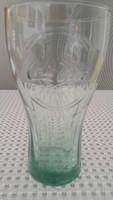 Régi zöld Coca-Cola üveg pohár (The real thing) felirattal 1994